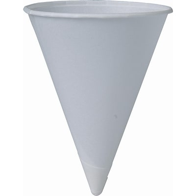 Solo® Bare® Eco-Forward® Paper Cone Cups 6 oz., White, 5000/Carton (6R-2050)