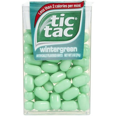 Tic Tac® Mints, Wintergreen, 12 Packs/Box