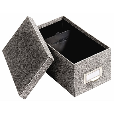 Globe-Weis® Fiberboard Index Card Storage Box, 4x6, Black