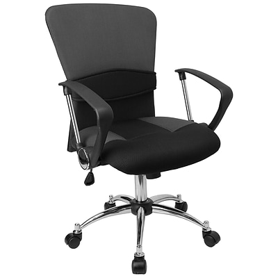 Flash Furniture Mid-Back Mesh Task Chair, Fixed Arms, Black
