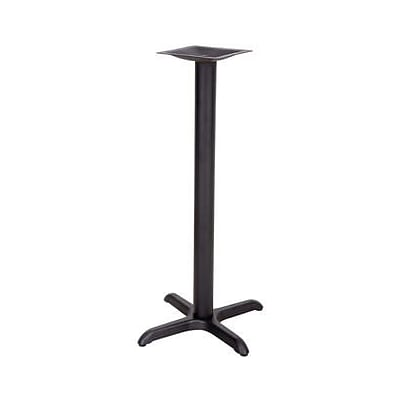 Flash Furniture 22 x 22 Cast Iron Restaurant Table X-Base With 3 Dia. Bar Height Column, Black