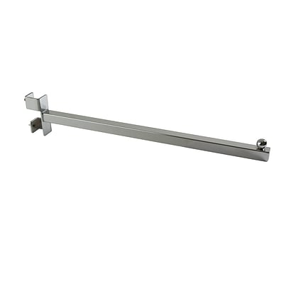 Econoco TV/16 16 Twist-On Straight Arm Faceout, Metal, Chrome, 24/Pack