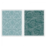 Sizzix® Texture Fades Embossing Folder, Damask and Regal Flourishes Set
