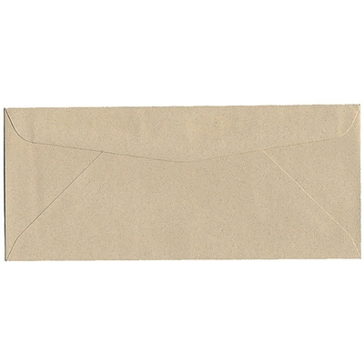 JAM Paper® #10 Passport Business Envelopes, 4.125 x 9.5, Sandstone Brown Recycled, 25/Pack (71037)
