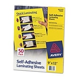 Avery 9x12 Self-Adhesive Laminating Sheets