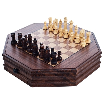 Trademark Games Octagonal Chess and Checkers Set (886511142480)