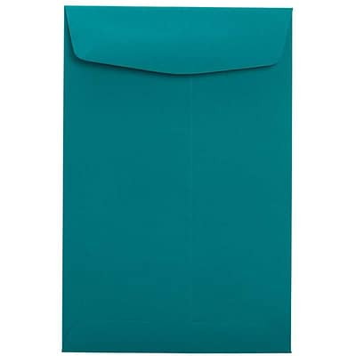 LUX® 9 x 12 70lbs. Open End Envelopes, Teal Blue, 50/Pack