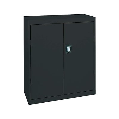 Sandusky® Elite 36 x 24 x 42 Counter Height Cabinet With Adjustable Shelves, Black