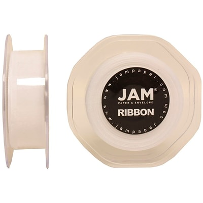 JAM Paper® Sheer Organza Ribbon, 7/8 Inch Wide x 25 Yards, White, Sold Individually (807SHWH25)