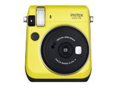 Fujifilm Instax Mini 70 Instant Film Camera; 60 mm, Canary Yellow
