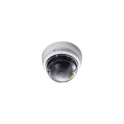 LevelOne® FCS-4301 Wired Indoor/Outdoor PTZ Dome Network Camera; 9 mm Focal Length