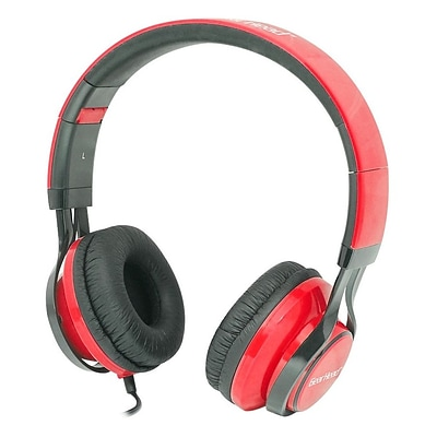 Gear Head  HS3500 Wired Stereo Studio Headphone; Black/Red