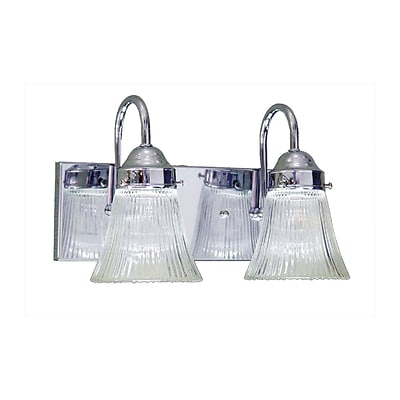 Aurora Lighting A19 Bath Vanity Lamp; Chrome(STL-VME315125)