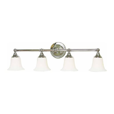 Aurora Lighting A19 Bath Vanity Lamp, Brushed Nickel(STL-VME013649)