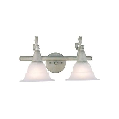 Aurora Lighting A19 Bath Vanity Lamp, Antique Silver(STL-VME817728)