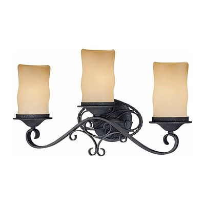 Aurora Lighting A19 Bath Vanity Lamp, Antique Iron(STL-VME345832)
