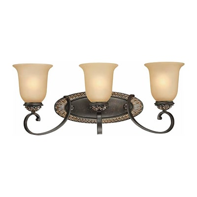Aurora Lighting A19 Bath Vanity Lamp; Vintage Bronze and Antique Gold(STL-VME222935)