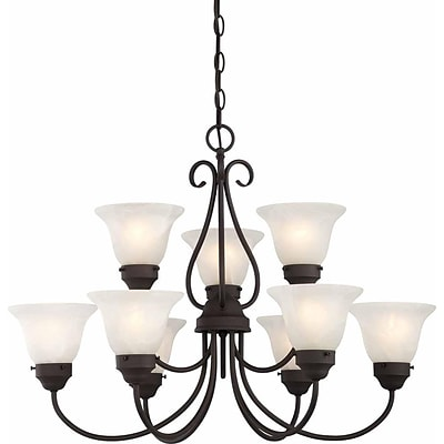 Aurora Lighting Incandescent Chandelier, Antique Bronze (STL-VME923399)