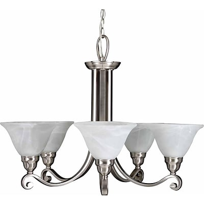 Aurora Lighting Compact Fluorescent Chandelier, Brushed Nickel (STL-VME344453)