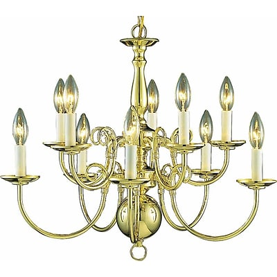 Aurora Lighting Incandescent Chandelier; Polished Brass (STL-VME235706)