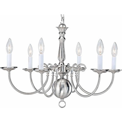 Aurora Lighting Incandescent Chandelier, Brushed Nickel (STL-VME335567)