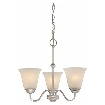 Aurora Lighting Incandescent Chandelier, Nickel (STL-VME622636)