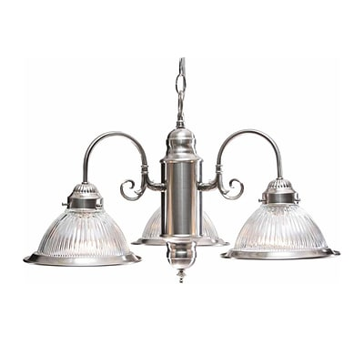 Aurora Lighting Incandescent Chandelier, Brushed Nickel (STL-VME047132)