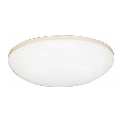 Aurora Lighting Compact Fluorescent Flush Mount, White (STL-VME661543)