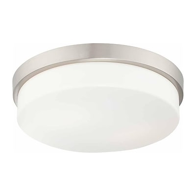Aurora Lighting Compact Fluorescent Flush Mount, Brushed Nickel (STL-VME362419)