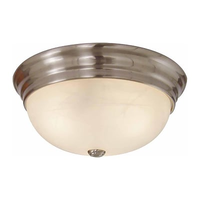 Aurora Lighting Incandescent Flush Mount, Brushed Nickel (STL-VME375723)
