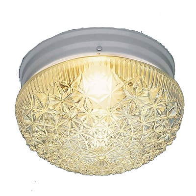 Aurora Lighting Incandescent Flush Mount, White (STL-VME670163)
