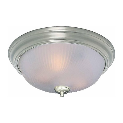 Aurora Lighting Incandescent Flush Mount; Brushed Nickel (STL-VME377222)