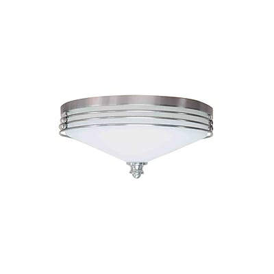Aurora Lighting Incandescent Flush Mount, Brushed Nickel (STL-VME373545)
