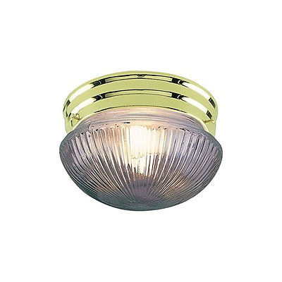 Aurora Lighting Incandescent Flush Mount, Polished Brass (STL-VME270561)