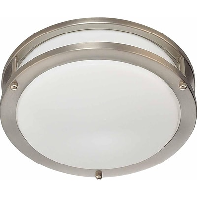 Aurora Lighting Fluorescent Flush Mount, Brushed Nickel (STL-VME368411)