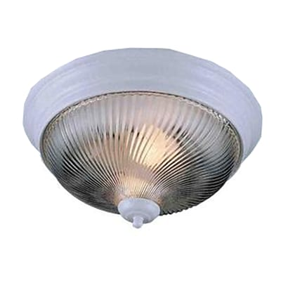 Aurora Lighting Incandescent Flush Mount, White (STL-VME677117)