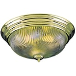 Aurora Lighting Incandescent Flush Mount, Polished Brass (STL-VME277140)