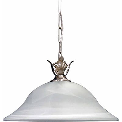 Aurora Lighting Incandescent Pendant, Brushed Nickel (STL-VME325803)