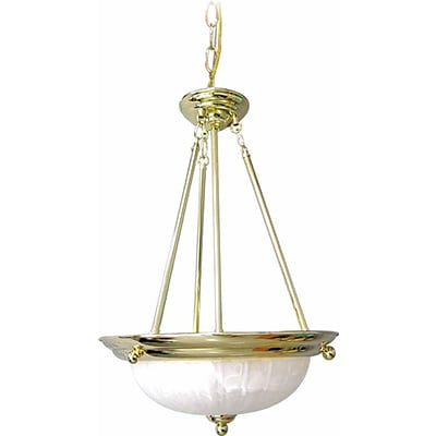 Aurora Lighting Incandescent Pendant, Polished Brass (STL-VME222836)