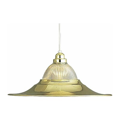 Aurora Lighting Incandescent Pendant, Polished Brass (STL-VME218105)
