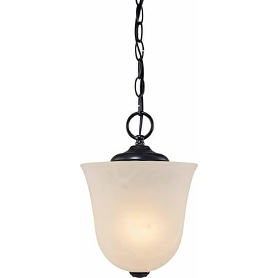 Aurora Lighting Incandescent Semi-Flush, Antique Bronze (STL-VME950708)