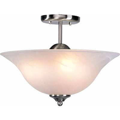 Aurora Lighting Incandescent Semi-Flush, Brushed Nickel (STL-VME324431)