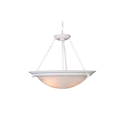 Aurora Lighting Incandescent Semi-Flush, Textured White (STL-VME569733)