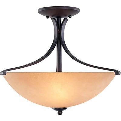 Aurora Lighting Incandescent Semi-Flush, Foundry Bronze (STL-VME541739)