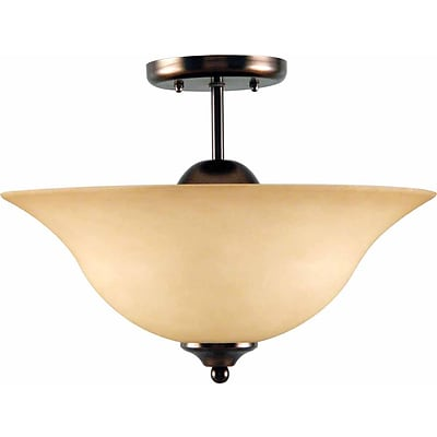 Aurora Lighting Incandescent Semi-Flush, Antique Bronze (STL-VME933435)