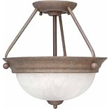 Aurora Lighting Incandescent Semi-Flush, Prairie Rock (STL-VME777626)
