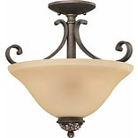 Aurora Lighting Incandescent Semi-Flush; Vintage Bronze (STL-VME222133)