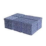 Aurora Lighting Jellico Fabric Bench and Storage Ottoman Set Blue 1 STP-TLC3109222