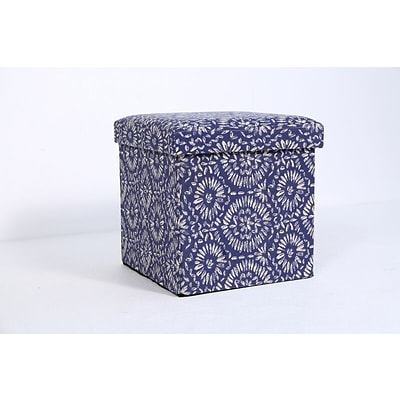 Aurora Lighting Seco Fabric Storage Ottoman Blue 1 STP-TLC3109062