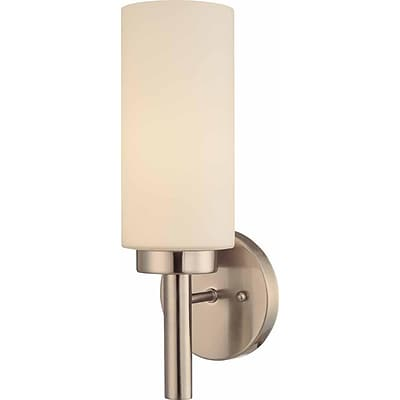 Aurora Lighting A19 Wall Sconce Lamp, Brushed Nickel(STL-VME321218)